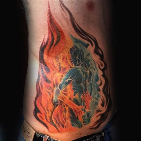 fire tattoos for men 80 tattoos for burning ink design ideas