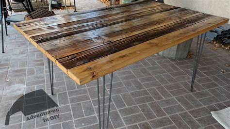 kitchen table reclaimed wood hairpin leg reclaimed wood kitchen table adventures in diy