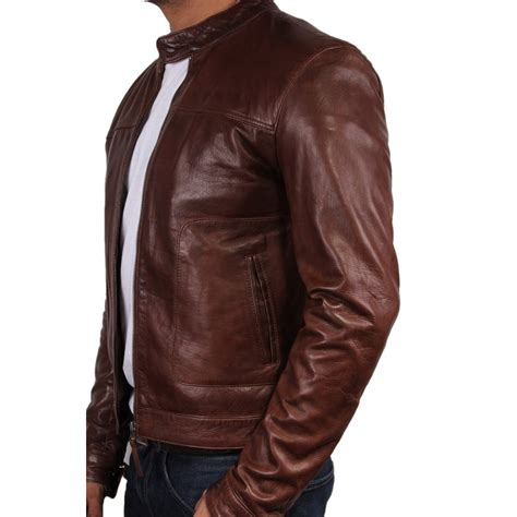 brown leather jacket mens s brown leather jacket asasin