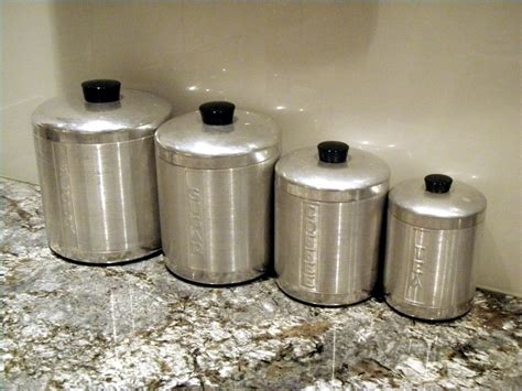 antique kitchen canisters antique aluminum canister set antiques kitchen 50s by