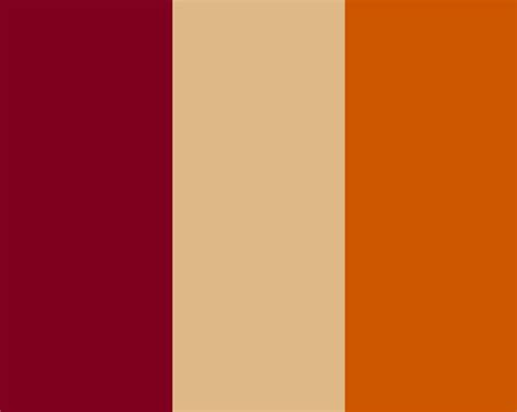 what colors go with burnt orange 1280x1024 burgundy burlywood and burnt orange three color