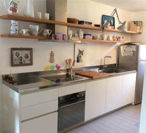 cucina con mensole c116 cucina lineare con mensole cucine steellart
