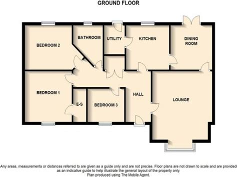 bedroom bungalow floor plan  bedroom bungalow floor