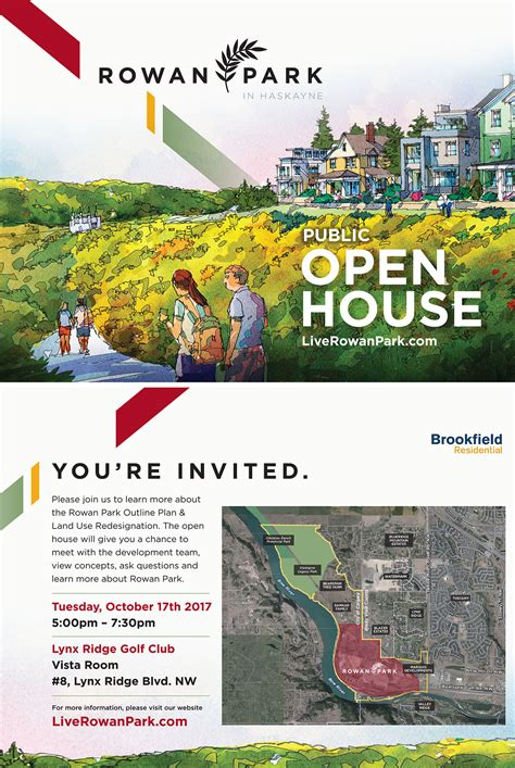 rowan open house open house haskayne development rowan park tuscany community association