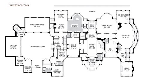 mansion blueprints floorplans homes of the rich