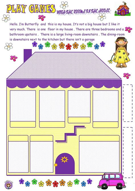 printable games to play at home play game with the house worksheet free esl printable