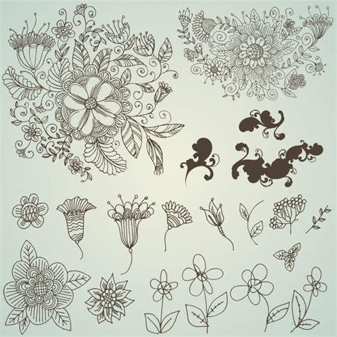 draw a pattern using flower as motif nbsp 키워드 라인 나뭇잎 nbsp 라인 드로잉 nbsp 손으로 그린 nbsp 디자인