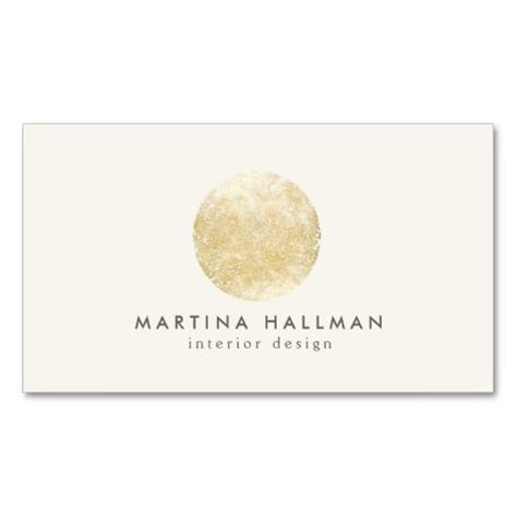circle business card template interior designer abstract decorative gold circle business