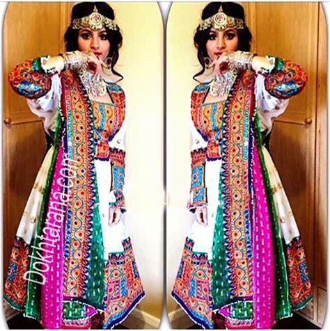 afghaanse jurk wit white green pink afghani dress afghani pinterest
