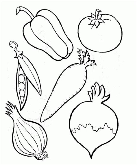 vegetables coloring pages pdf six kinds of perfect food vegetables coloring pages