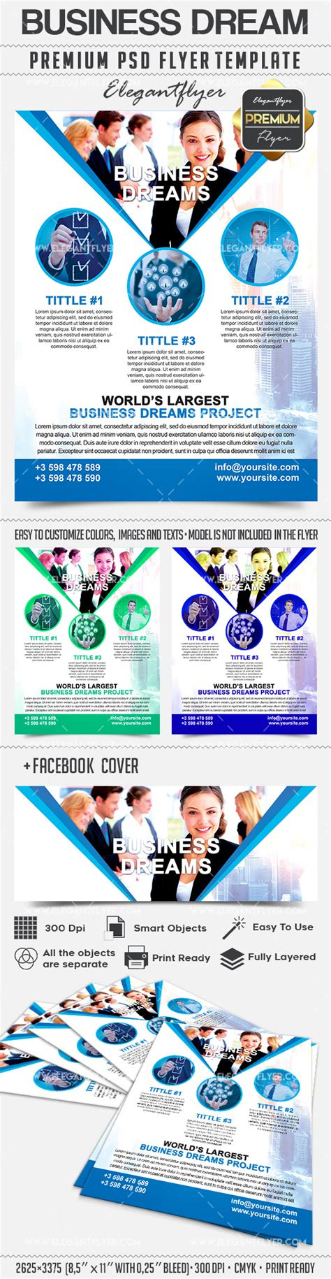 Business Dream Flyer Psd Template By Elegantflyer Business Flyer Template Psd