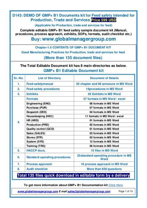 Gmp B1 Documents Manual Procedures Audit Checklist Gmp Audit Checklist Template