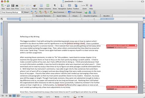 web layout view in ms word how to view inserted comments in various versions of