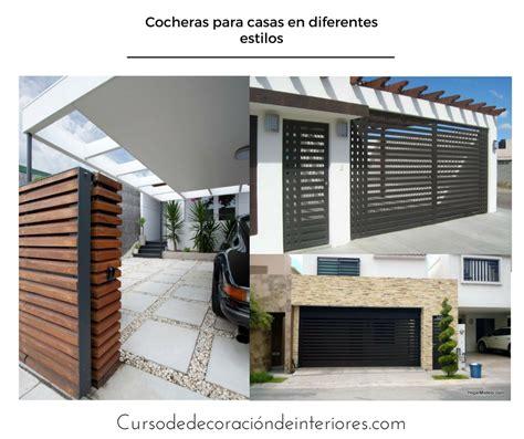 cocheras modernas dise 241 os de cocheras en diferentes estilos para casas