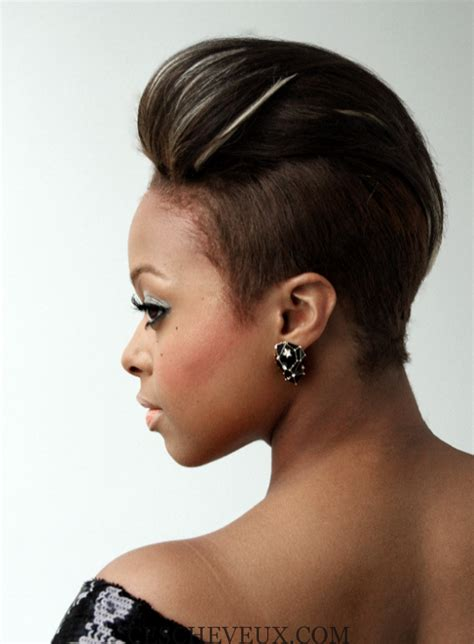 beautiful black women short hairstyle with sideburns gallery 23 must see coiffures courtes pour les femmes noires