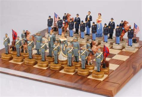 Themed Chess Sets by Civil War Chess Pieces