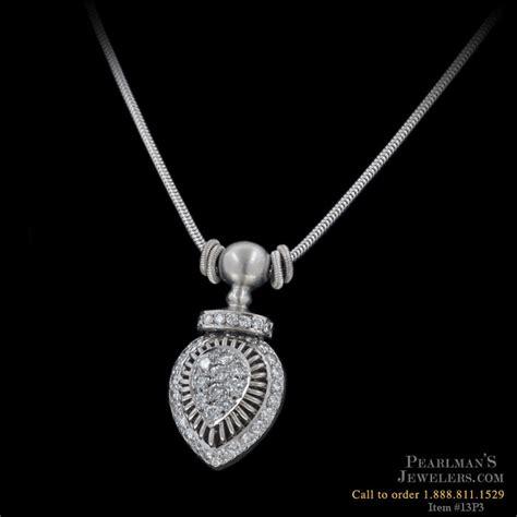 michael b jewelry platinum and pendant