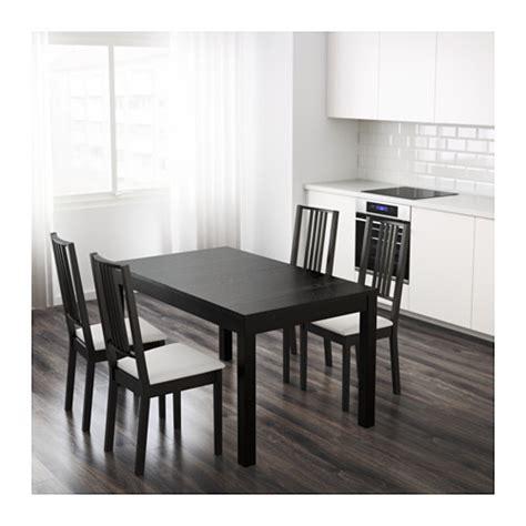 bjursta tavolo allungabile bjursta tavolo allungabile marrone nero ikea