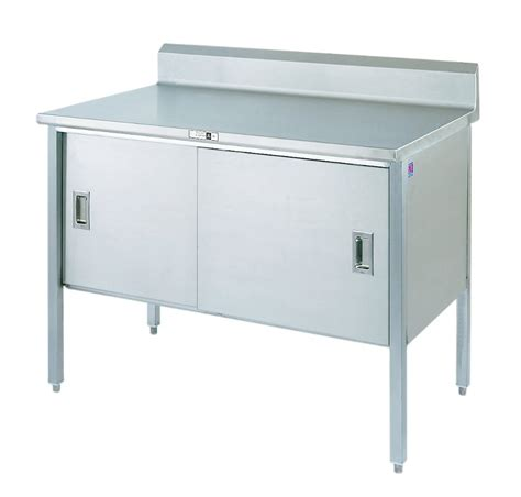 stainless steel work table enclosed base cabinet nsf stainless steel table enclosed base cabinets