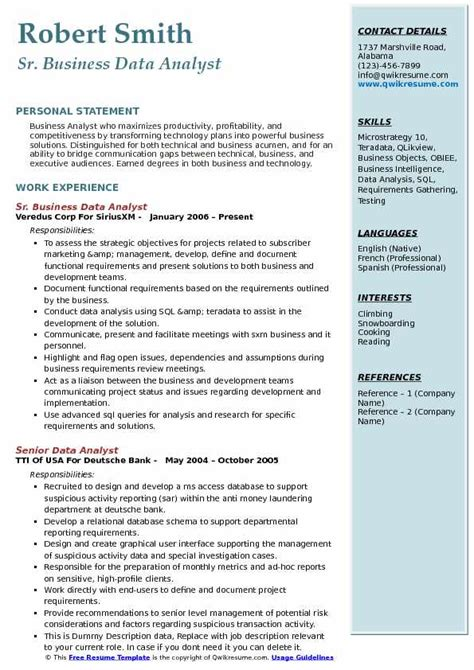 Business Analyst Resume Summary