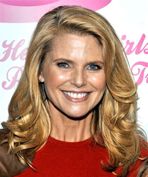 Christie Brinkley Long Wavy Casual Hairstyle   Dark Blonde