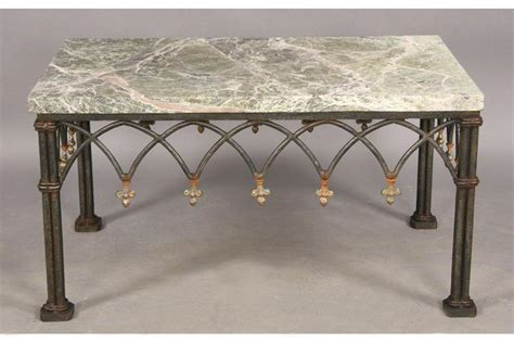 Coffee Table. Brazilian Rosewood and Black Granite Coffee Table Set: wrought iron coffee table