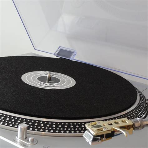 10 Inch Turntable Mat - vinyl guru turntable slip mat platter cover with stroboscope