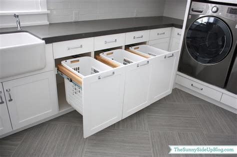 built in hers transitional laundry room side up