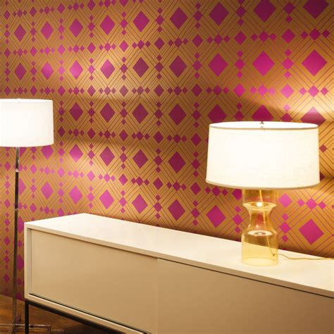 removable wall district17 diamond violet removable wallpaper wallpaper