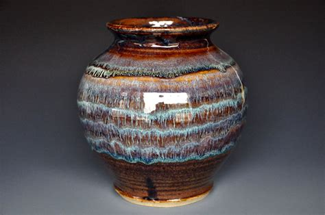 Handmade Clay Pottery - stoneware flower vase handmade ceramic vase pottery a