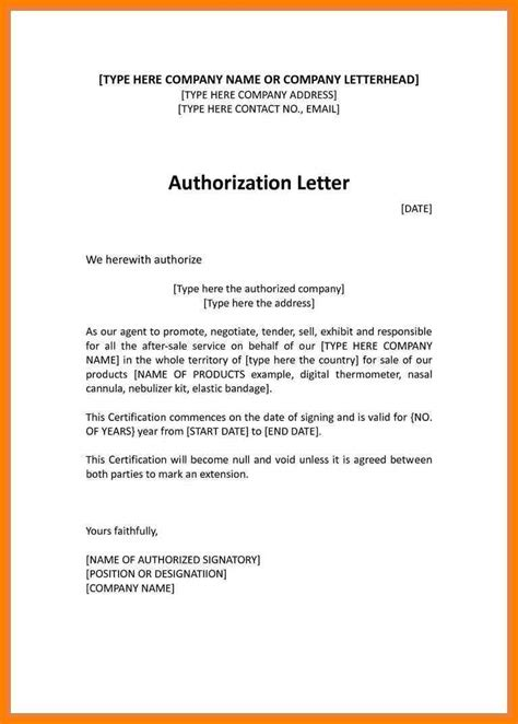authorization letter format for representation 11 authorization letter for representation artist