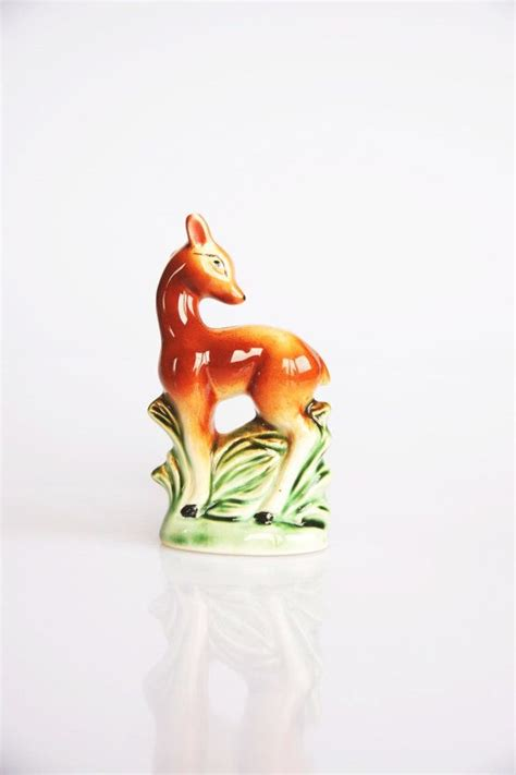 animal figurines home decor miniature mid century deer figurine cute animal figurine