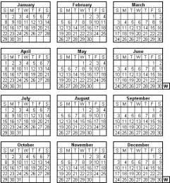 Eritrea Kalender 2018 World Calendar