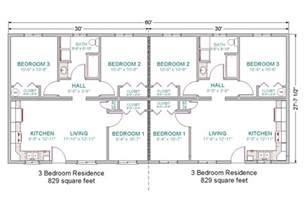 Floor Plans For Duplexes 3 Bedroom by 3 Bedroom Duplex Floor House Plans