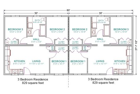 2 bedroom 1 bath duplex floor plans basic for duplex guest house 6 bedrooms total duplex