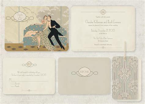 deco wedding stationery wedding invitations with gatsby chic vintage brides