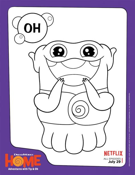 Dreamworks Home Oh Coloring Page Mama Likes This Coloring Pages Coloring Home