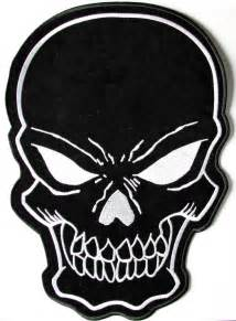 black skull large back patch