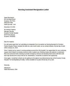 Resignation Letter For Nurses With Personal Reason 31 Formal Resignation Letters