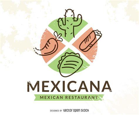 logotipos de cocina logotipo de restaurante de comida mexicana descargar vector