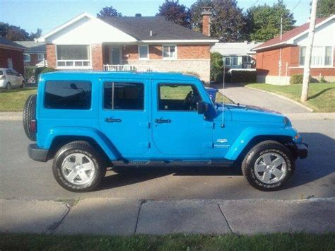 jeep baby blue light blue jeep wrangler for sale