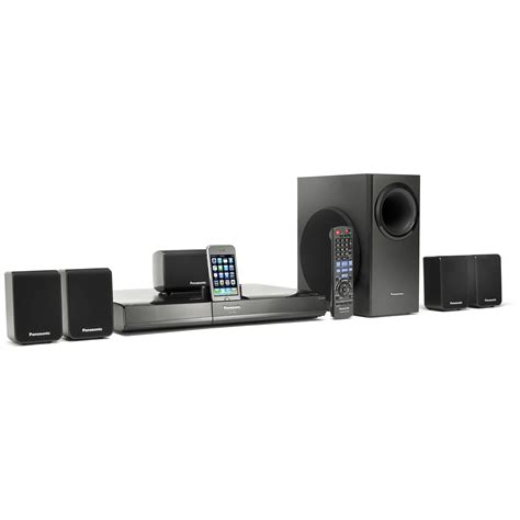 panasonic sc pt480 dvd home theater sound system sc pt480 b h