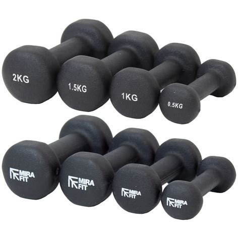 Dumbell 10kg mirafit 10kg black dumbbell weight set mens fitbell weights ebay