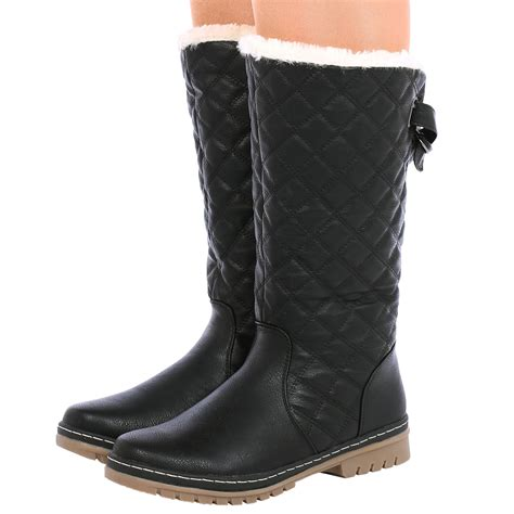 fur lined boots new womens fur lined quilted moon ski winter