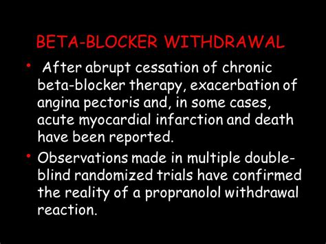 Propranolol Detox by Beta Blockers Ppt