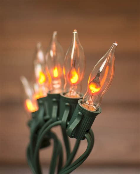 our flickering flame string lights dance into the holiday