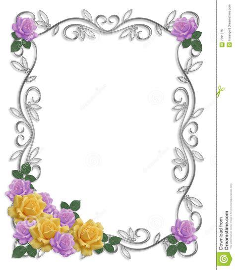 cadre card templates roses de cadre d invitation de mariage image libre de