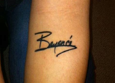 autograph tattoo beyonce autograph it looks amazing band songs