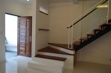Duplex Stairs Design Modern Asian Duplex Northview Qc Philippines