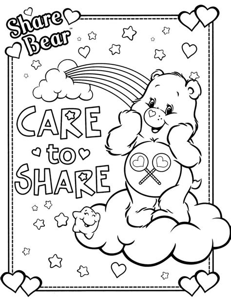 Care Bears Coloring Pages Care Bears Coloring Page 11 Caring Coloring Pages